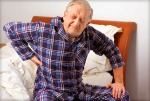 senior back pain wake up