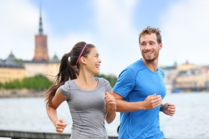 running couple, medium